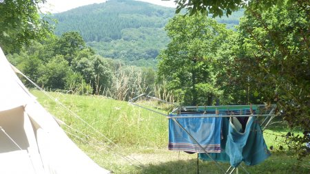 emplacement tente propre