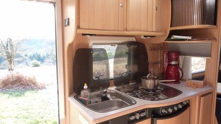 Keuken, caravan huren frankrijk