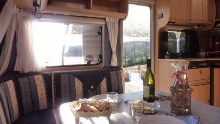 Dethleffs caravan te huur op camping in Frankrijk