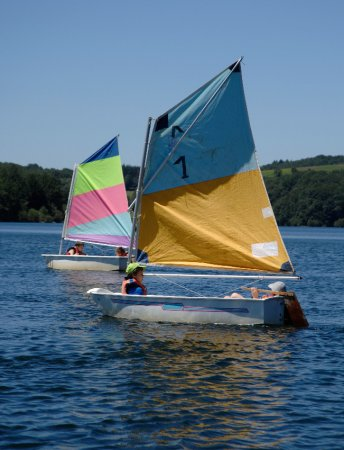 Sailing, surfing, canoeing lake laouzas